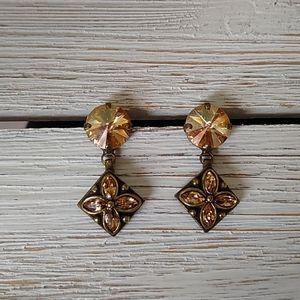 Topaz Swarovski Crystal EARRINGS